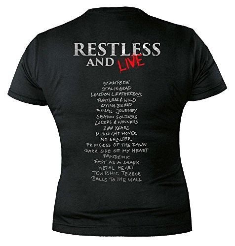 Inquieto camisa de en y Acepta vivo negro color OwdUqnS