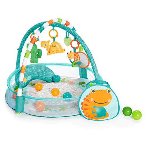 Bright Starts 4-in-1 Rounds of Fun Activity Gym & Ball Pit, Newborn +, Blue