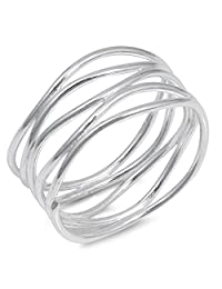 CHOOSE YOUR COLOR Sterling Silver Knot Bar Ring