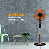 V-Guard Superflo Pedestal Fan with Timer (Yellow Black)