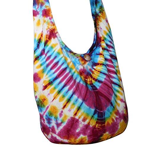 Hippie Bags Bags Tonka Dye Hobo Orage Crossbody TDB15 Tie Bags Shoulder Purse 4840wX