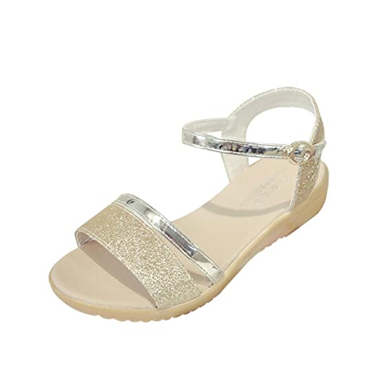 c4fb4db440e7 Abend Sandaletten Damen, Manadlian Frauen Sommerschuhe Knöchelriemen Strand  Schuhe Fischmaul Schuhe Sandalen Flache Ferse Solide