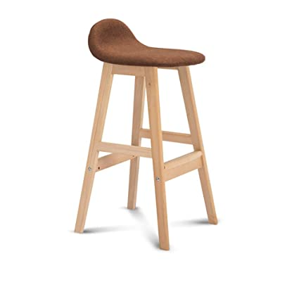 Amazon.com: Chairs MEIDUO Bar stools Bar Solid Wood Bar Stool with ...