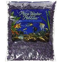 Pure Water Pebbles Aquarium Gravel, 2-Pound, Purple Passion