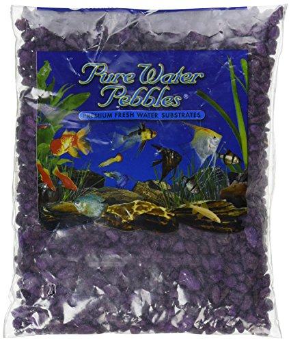 Purple Gravel - Pure Water Pebbles Aquarium Gravel, 2-Pound, Purple Passion
