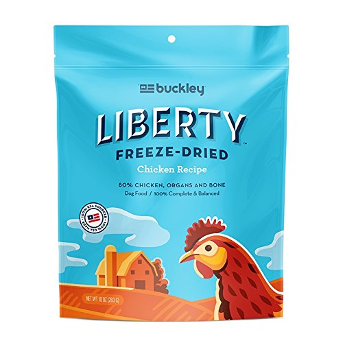 Image of Buckley Liberty Freeze Dried Dog Food/Food Topper And Mixer, Chicken, 10 Ounce