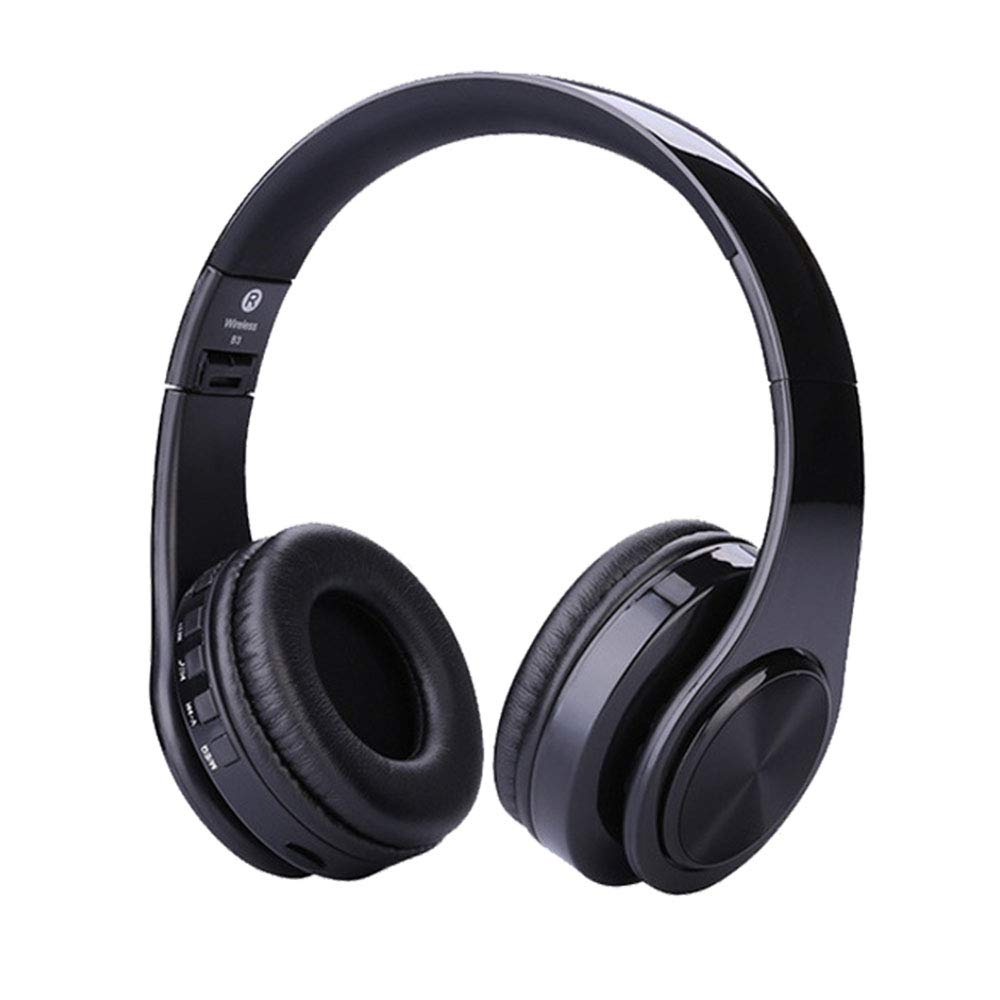Auriculares Dkaile Over-Ear Bluetooth con Microfono Hi-Fi Stereo Inalambrico Headset TF Card MP3 Player/FM/AUX Con Cable