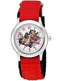 Boy's 'Mickey Mouse' Quartz Stainless Steel and Nylon Casual Watch, Color:Red (Model: WDS000184)