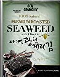 Sea Crunchy 100% Natural Premium Roasted Seaweed with Olive Oil, 1 oz (Pack of 10)