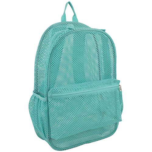 Eastsport Mesh Backpack, Turquoise (Eastsport Mesh Backpack With Padded Adjustable Straps)