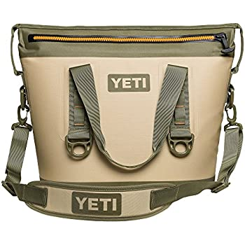 YETI Hopper Two 20 Portable Cooler, Field Tan / Blaze Orange