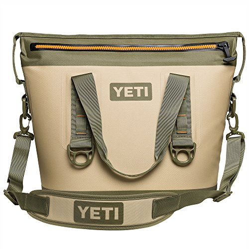 Yeti Hopper Two 20 Portable Cooler  Field Tan Blaze Orange