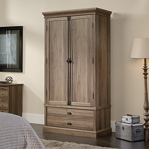 Sauder Barrister Lane Bedroom Armoire in Salt Oak by Sauder