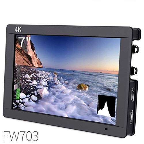 Fw703 7 Inch IPS 3G Sdi 4K Hdmi DSLR Monitor Full Hd 1920x1200 On Camera Field Monitor with Histogram for Stabilizer Cameras R