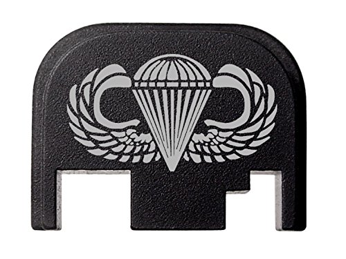 - NDZ Performance for Glock 17 19 21 22 23 27 30 34 36 41 Rear Plate Blk G1-4 Airborne Jump Wings