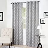 Cheap Lavish Home Myra Room Darkening Curtain Panel, 84″, Silver