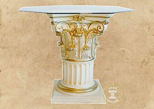 Dekorativ mästare matbord Alisa pelare bord Medusa barock antik look