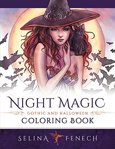 Night Magic - Gothic and Halloween Coloring Book (Fantasy Coloring by Selina)]()