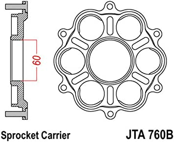 NEW JT JTA760B Aluminum Rear Sprocket Carrier