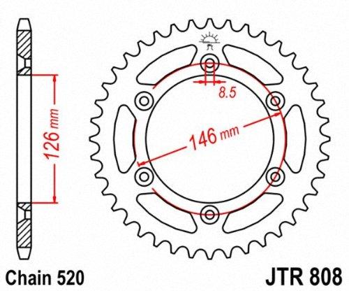 JT Sprockets JTR808.43 43T Steel Rear Sprocket