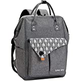 Lekesky Laptop Backpack 15.6 Inch Stylish Women Computer Backpack School Backpack Water Repellent Travel Backpack for Women and Men, Grey