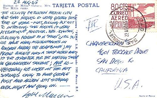 Ruinas de Mitla Oaxaca Mexico Postcard Tarjeta Postal at ...