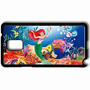 Personalized Samsung Note 4 Cell phone Case/Cover Skin Disney the little mermaid movies Black WANGJING JINDA