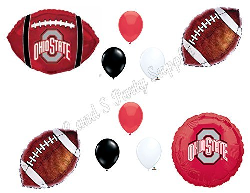 Ohio State Football Game Day Birthday Party Balloons Decorations Supplies College