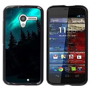 Hidden Hills Vegetación - Metal de aluminio y de plástico duro Caja del teléfono - Negro - Motorola Moto X 1 1st GEN I