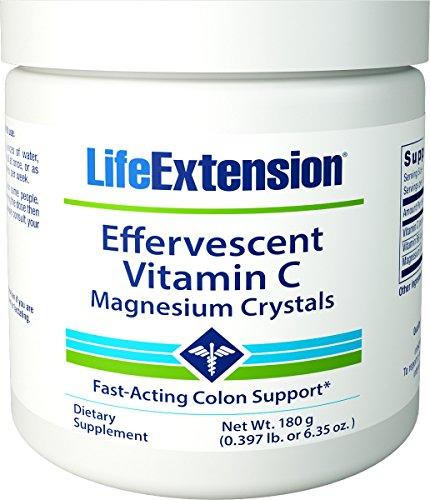 Effervescent Vitamin C - Magnesium Crystals Net Wt. 180 g (0.397 lb. or 6.35 oz.)-Pack-3