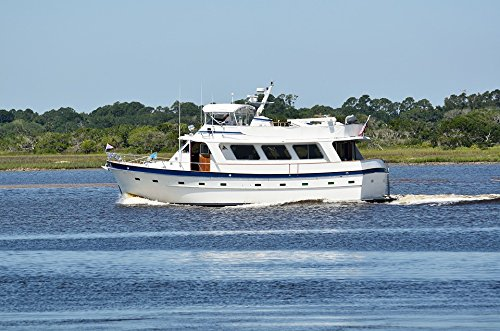 Home Comforts Laminated Poster Luxury Yacht St Augustine Cruising River Florida Poster 24X16 Adhesive Decal