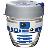 KeepCup R2D2B08 Reusable Glass Coffee Cup, 8 oz Small, R2D2