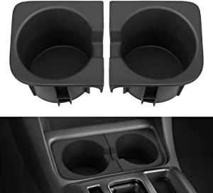 JOYTUTUS Car Cup Holder Inserts Replacement for Tacoma 2005 to 2017, Durable Cup Holder Inserts Drink Holder Accessories 66991-04012,66992-04012,Black