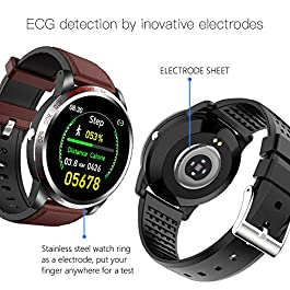 NiceFuse Smart Watch, Fitness Tracker with Heart Rate Monitor Blood Oxygen Saturation Meter Sleep Monitor, Waterproof…