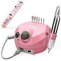 Belle Electric Nail Drill Professional 30000RPM Máquina de taladrado de clavos Lima de uñas eléctrica Manicure Drill Juego de taladros de uñas E para uñas de gel acrílicas (110 V, rosa)