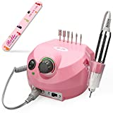 pink drill for nails - Belle 30,000RPM Nail Drill Machine Electric Nail File Manicure Pedicure Drill for Acrylic Nails (Pink, 110V)