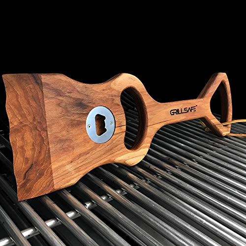 "18"" Premium Hickory Wooden BBQ Grill Scraper. The Ultimate, All-Natural Grill Brush Safe, Bristle-Free ""Custom"" Grill Cleaning. Made Pride in The USA Guarantee. by GrillSafe (Image #2)"