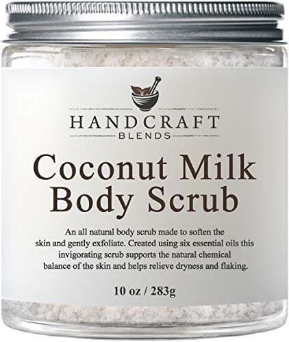 100% Natural Coconut Milk Scrub –A Deep Nourishing & Exfoliating Body Scrub Made With Dead Sea Salt and Essential Oils - Best Body Scrub for Cellulite, Stretch Marks, and Varicose Veins – 10 OZ