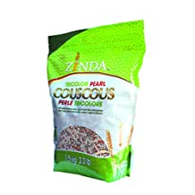 Zinda Tricolor Pearl Couscous with Whole Wheat Orzo, Yellow Split Peas and Quinoa, 1.5 Kg