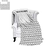 CHASOEA Science Travel Throw Blanket Element Table for Chemisty Science Students Scientists Classic