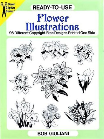 - Ready-to-Use Flower Illustrations: 96 Different Copyright-Free Designs Printed One Side (Clip Art Series)