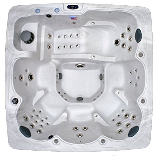 Home and Garden Spas LPIHG-90 HG-90 Spa 90 Jet Hot Tub, 92x92x37, Sterling by Home and Garden Spas