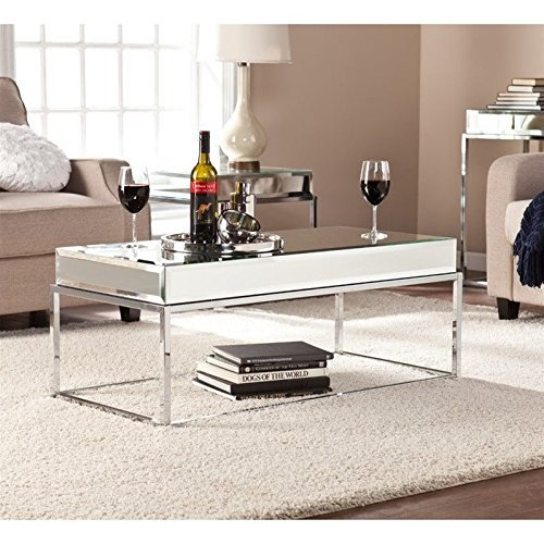 (Southern Enterprises Dana Mirrored Cocktail Table)
