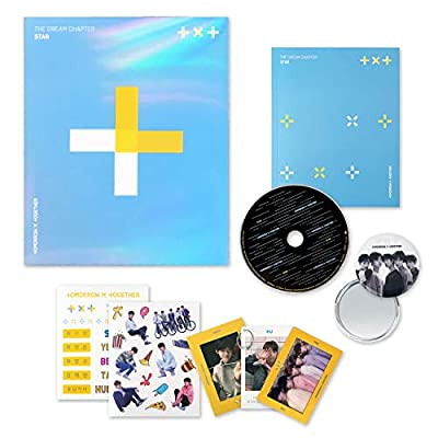 Tomorrow X Together TXT Album - The Dream Chapter : Star CD + Photobook + Photocards + Sticker Pack + OFFICIAL POSTER + FREE GIFT