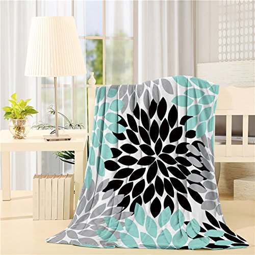 - YOUNGKIDS Multicolor Dahlia Pinnata Flower Fleece Throw Blanket Custom, Soft Plush Flannel for Sofa/Couch/Bed/Chair, 60x80inch