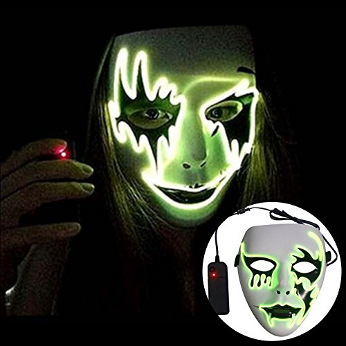 [NUMBERNINE,Led Luminous Mask Halloween Christmas Carnaval Party Club Bar Dj Glowing Full Face Masks Glowing Street Dance Mask ,Mask Party] (Bowl Of Rice Costume)