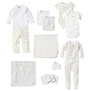 Burts Bees Baby Baby 13-Piece Every Day Essentials Bundle, Cloud, 3-6 Months