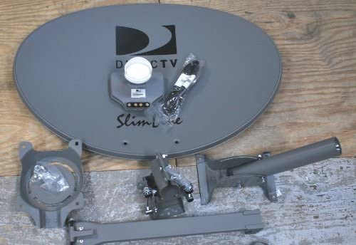DIRECTV 3LNB SLIMLINE DISH KA/KU SL3 HD AU9 SHORT ROOF ONLY STUB FOOT 4 OUTPUTS