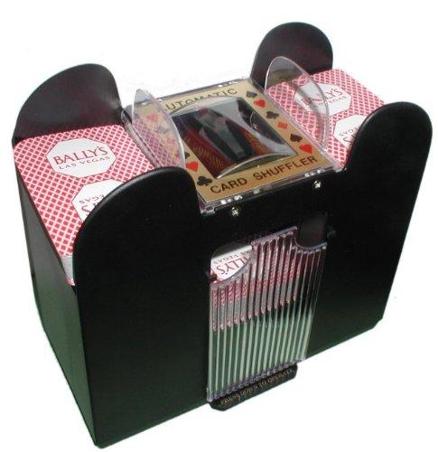 Deluxe 6 Deck Automatic Card Shuffler - Includes 2 Bonus ...