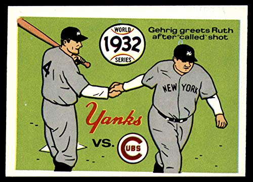 (Baseball MLB 1970 World Series #29 1932 - Yankees vs. Cubs - Lou Gehrig/Babe Ruth VG/EX Very Good/Excellent)